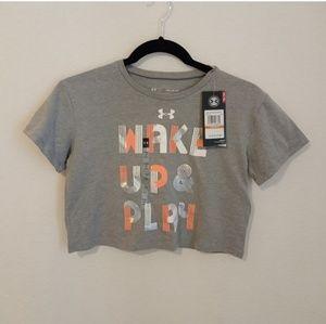 Girls UA shirt NWT size YSM